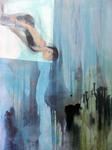 #somersault #trampolinist #action #blue #expressionist