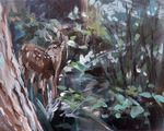 deer painting, yosemite, wildlife painting