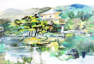 Kyoto, Japan, Golden Temple, Kinkaku-ji, Japanese temple, Japanese landscape, Japanese garden